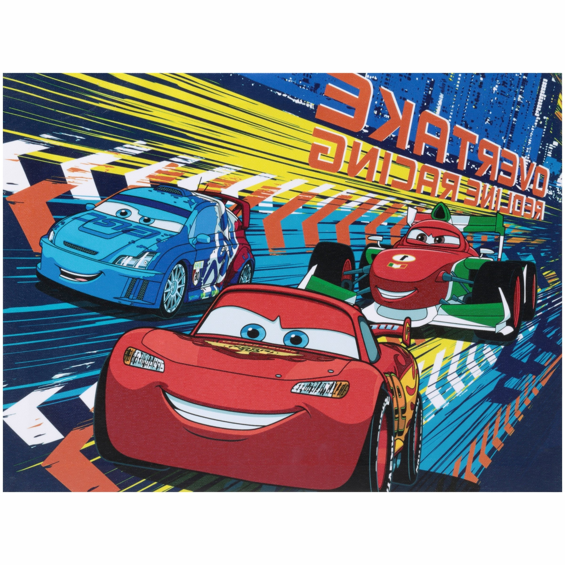 Cars Theme Canvas Wall Art Within Preferred Disney Cars Light Up Canvas Wall Art With Bonus Led Lights (View 7 of 15)