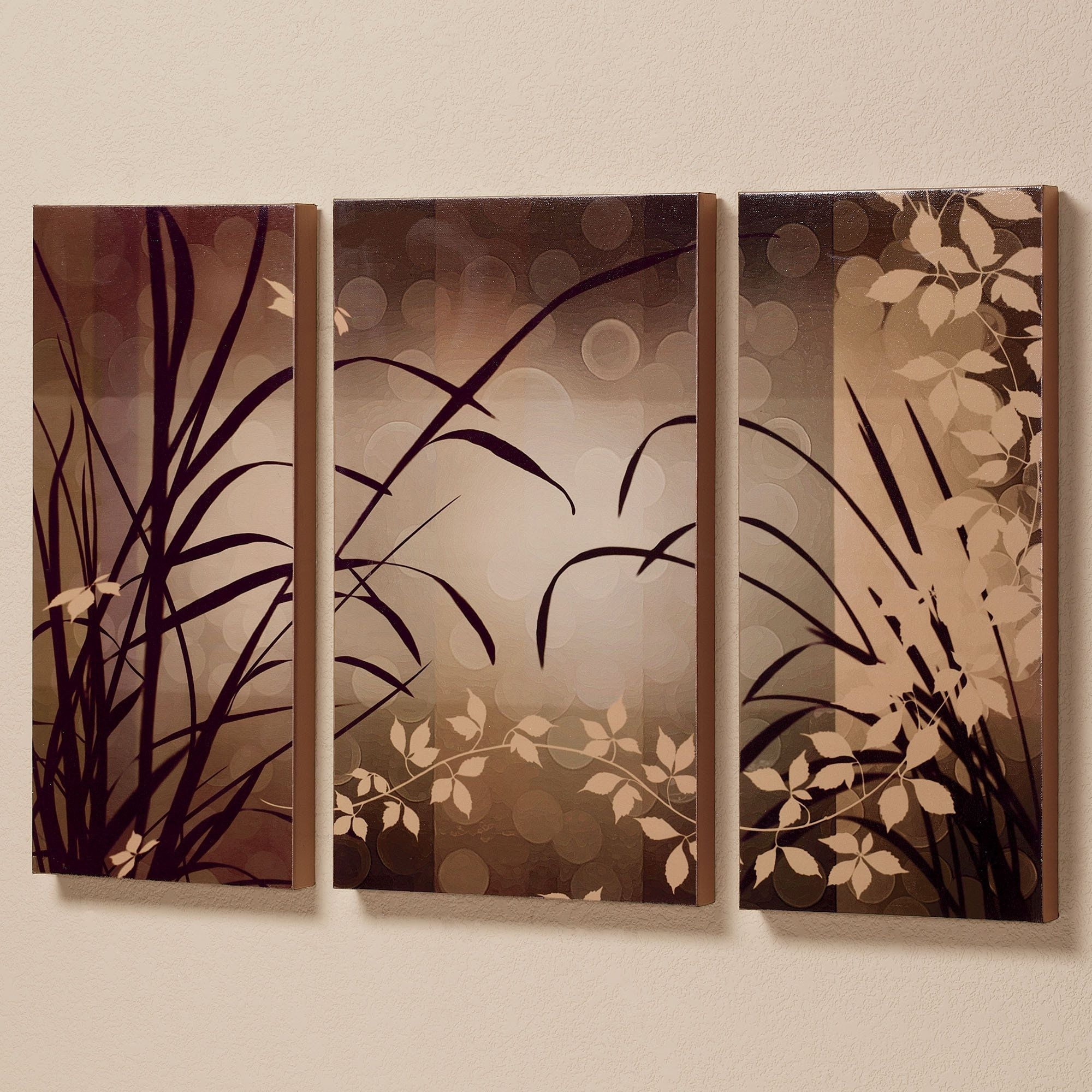 Celebrate Elegance Triptych Canvas Wall Art Set (View 2 of 15)