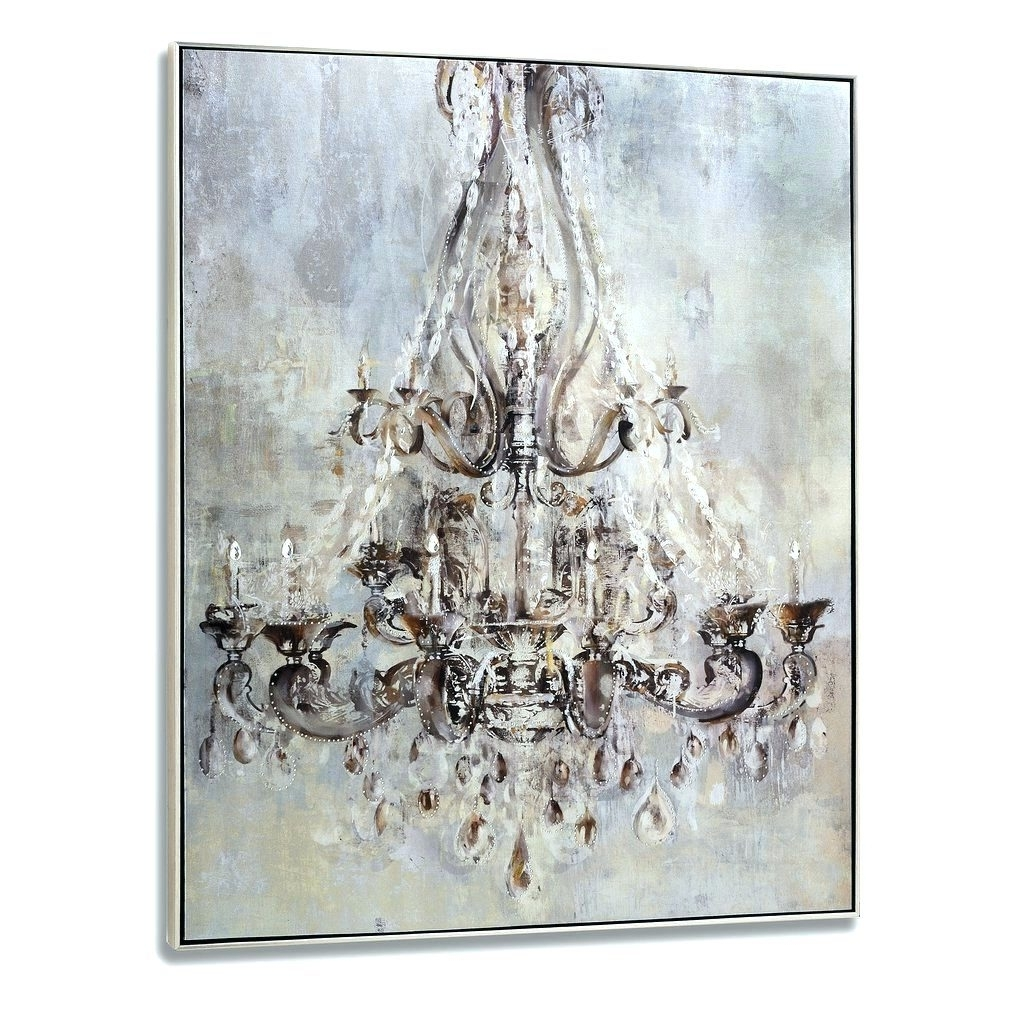 Chandelier Canvas Wall Art In Most Current Wall Arts ~ Monsoon Floral Metallic Wall Art Canvas Metallic (View 3 of 15)