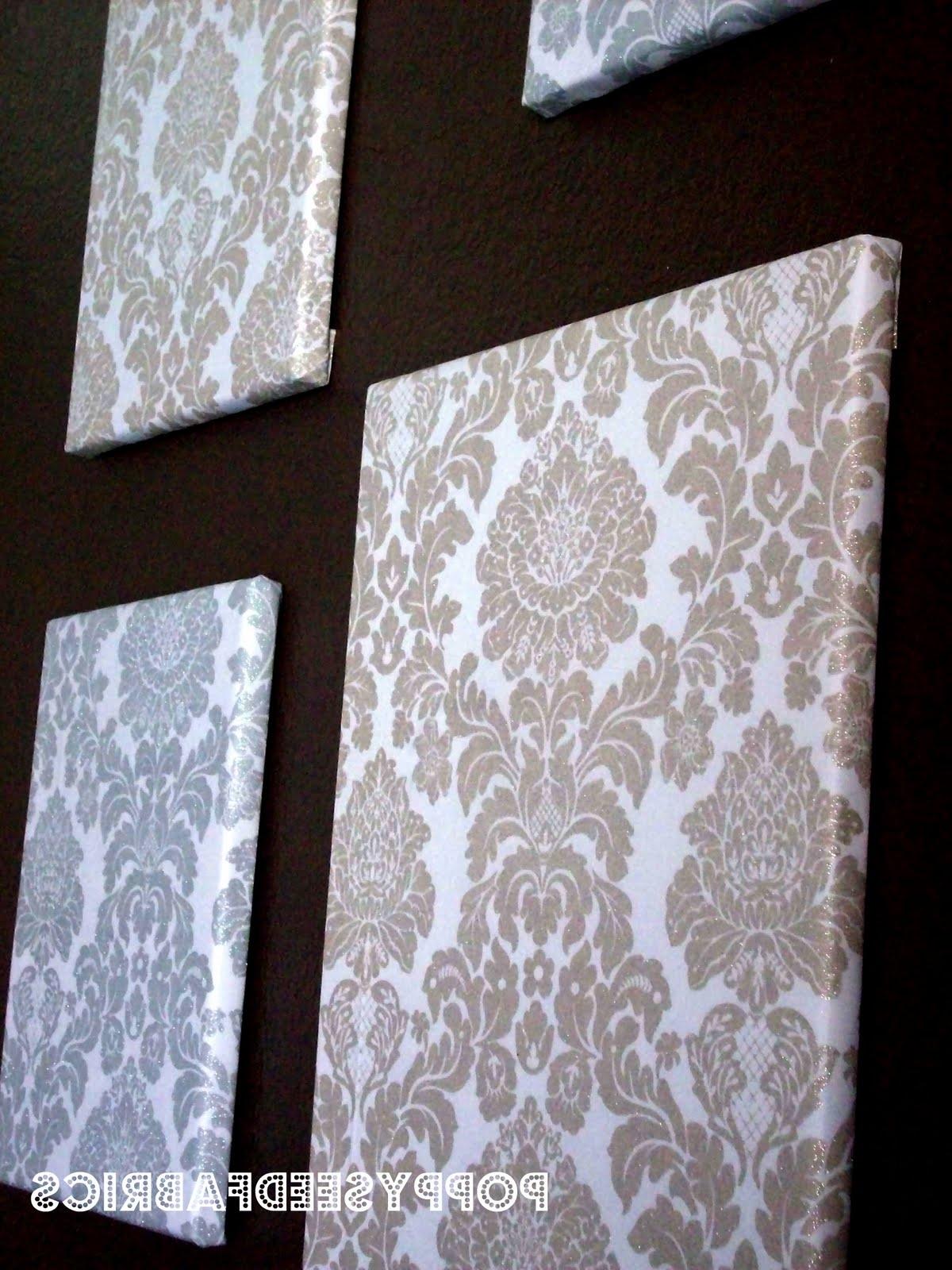 Cheap Fabric Wall Art Pertaining To Most Recent Poppyseed Fabrics: Fabric Wall Art Tutorial (View 10 of 15)