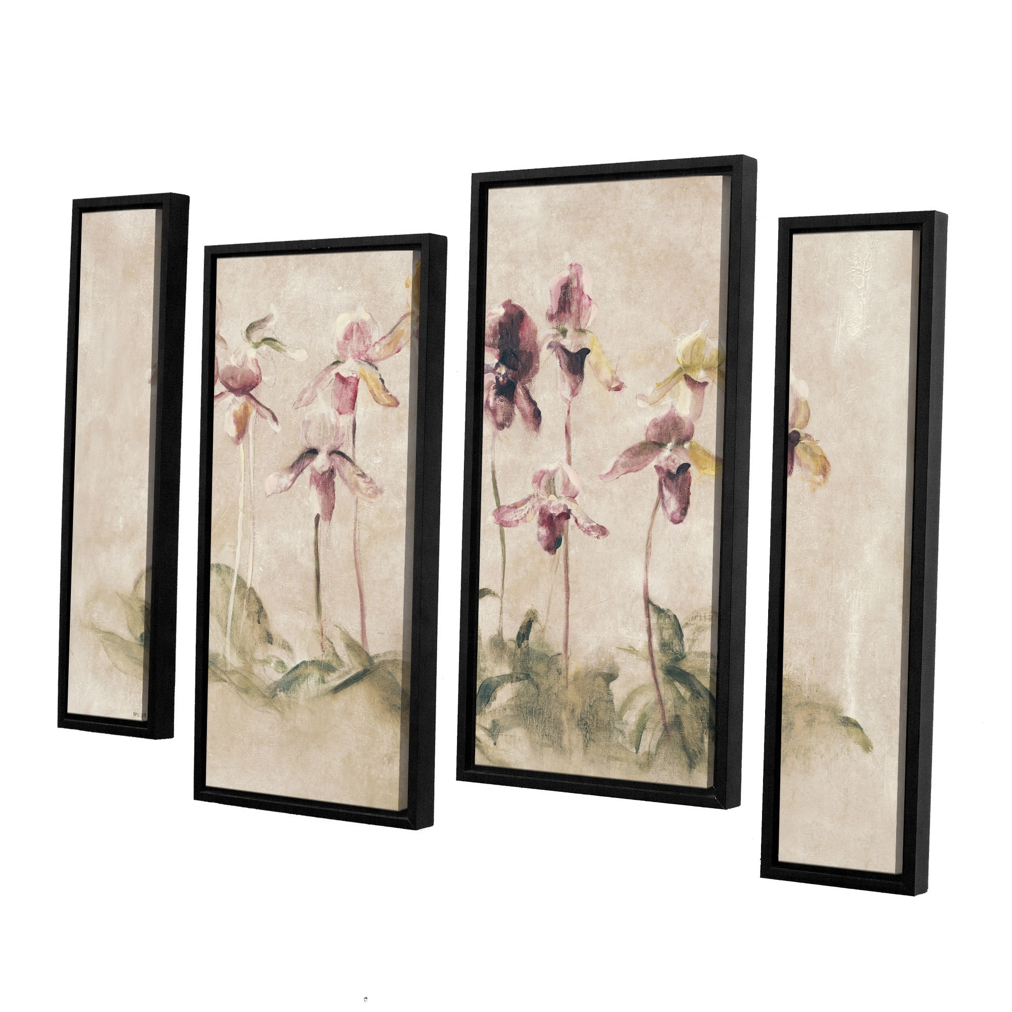 Cheri Blum Framed Art Prints Intended For Newest Artwall 'purple Dancing Orchids'cheri Blum 4 Piece Framed (Gallery 8 of 15)