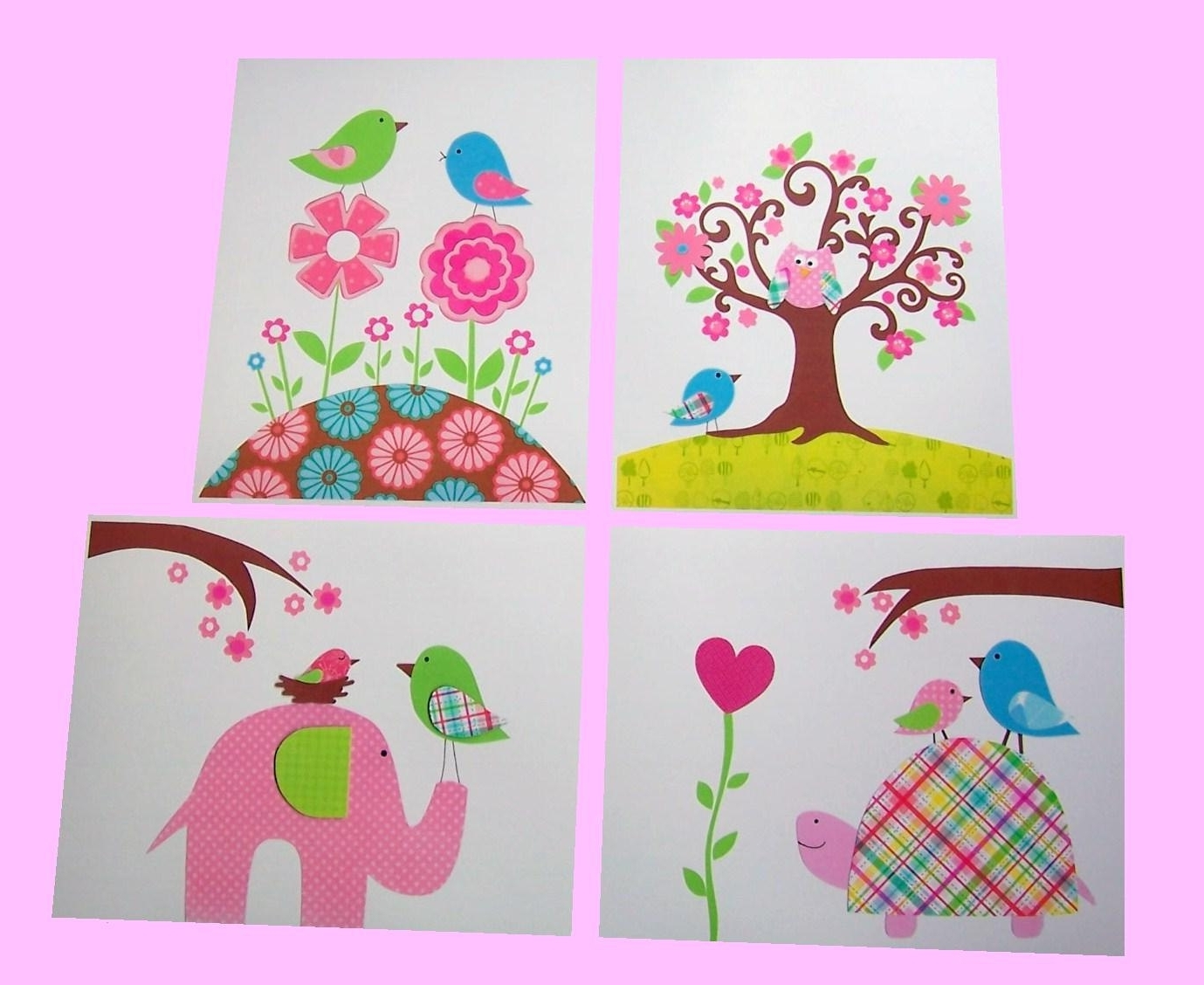 Childrens Fabric Wall Art For Favorite Wall Art Design Ideas: Paper Cuts Handmade Kid Wall Art Fabric (View 2 of 15)