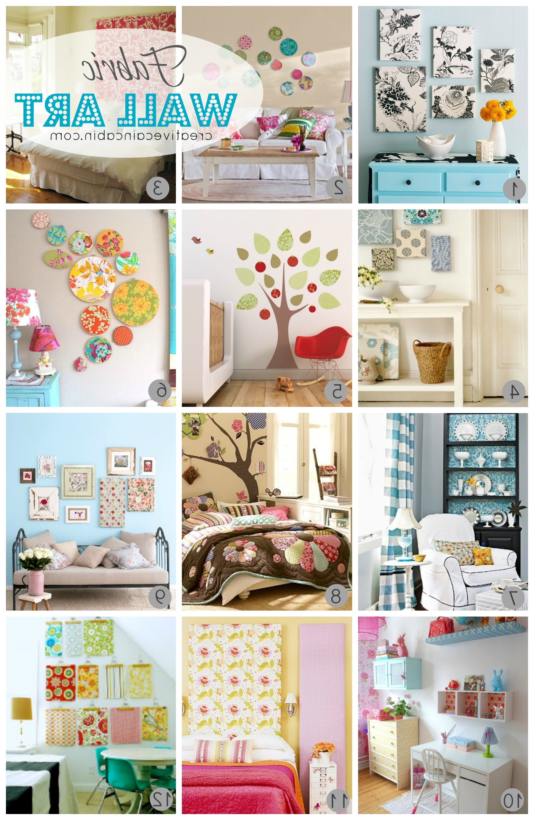 Childrens Fabric Wall Art For Newest 12 Ways To Use Fabric As Art – Creative Cain Cabin (View 3 of 15)