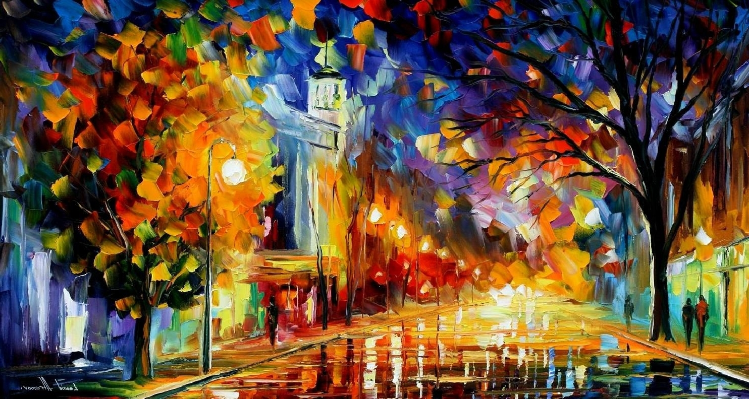City Of Joy – Palette Knife Oil Painting On Canvasleonid Throughout Newest Joy Canvas Wall Art (View 2 of 15)