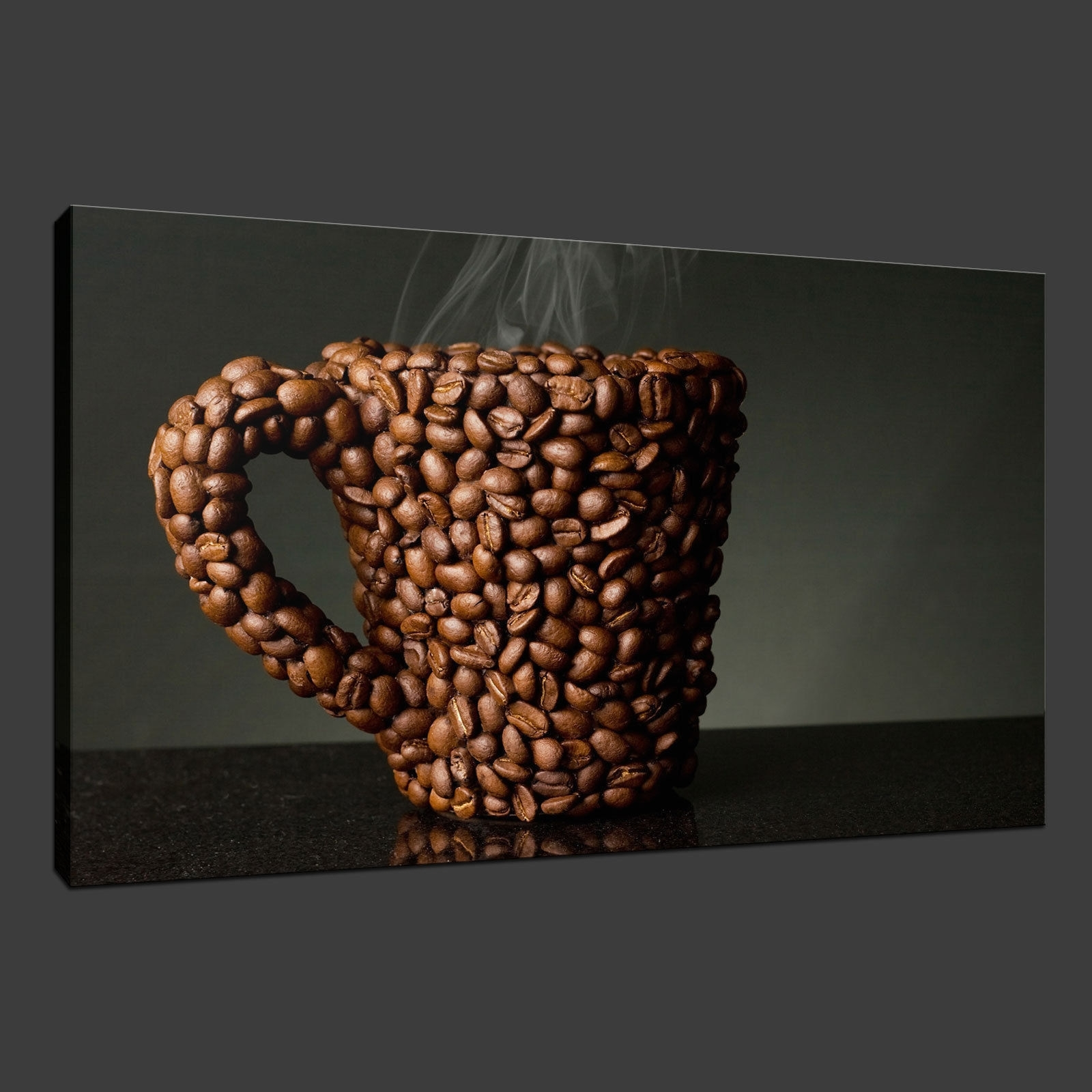 Coffee Canvas Wall Art With Regard To Most Recently Released Canvas Print Pictures. High Quality, Handmade, Free Next Day Delivery. (Gallery 6 of 15)