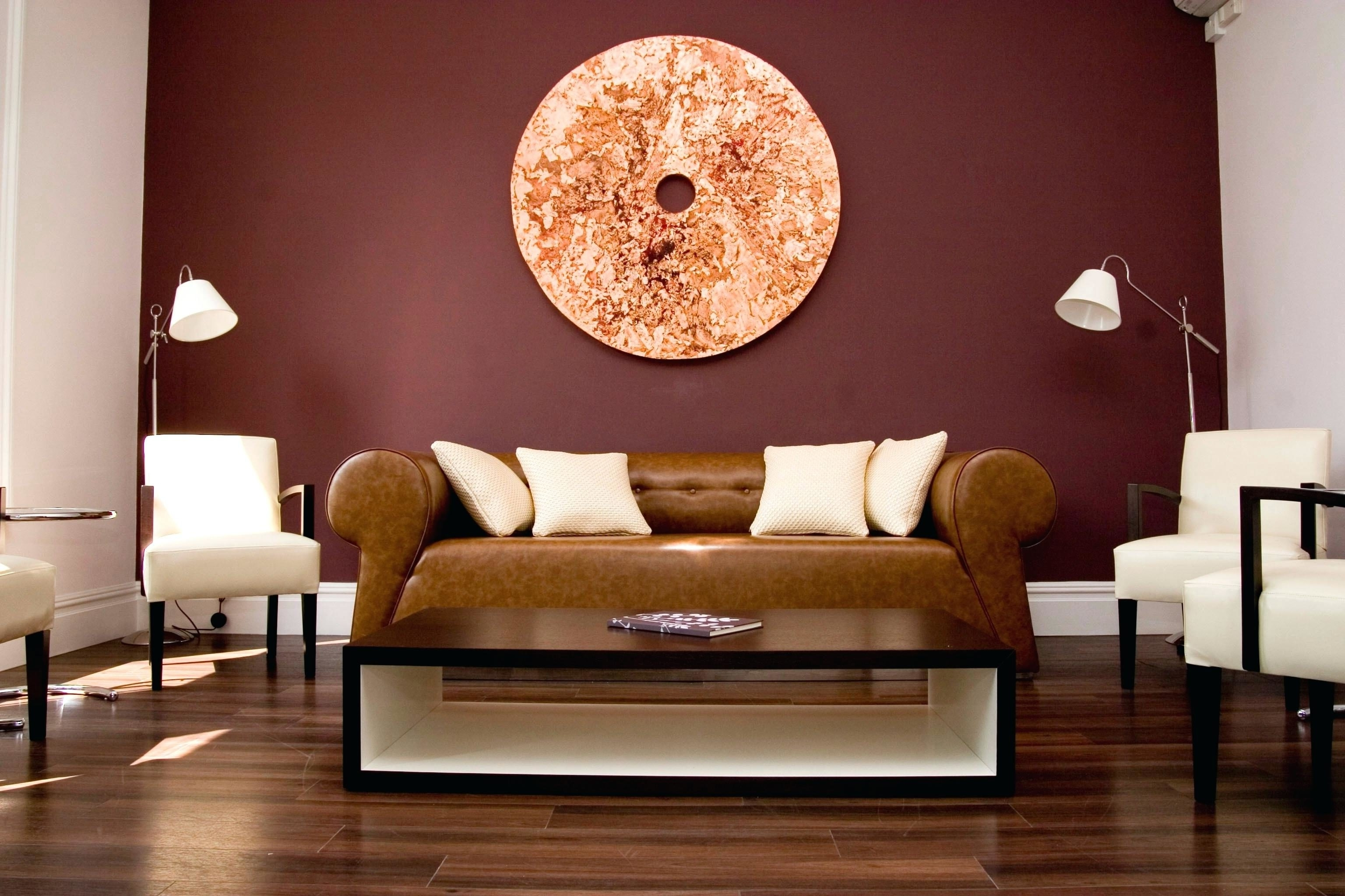 Cozy Living Room With Smart Paint Color Matches Maroon Accent Wall Within Recent Maroon Wall Accents (View 3 of 15)