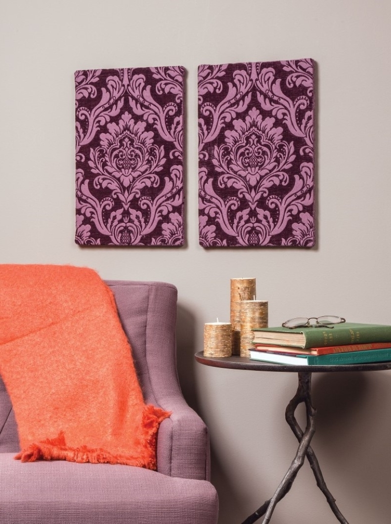 Current 5 Unexpected Ways To Use Fabric In Home Decor Intended For Stretchable Fabric Wall Art (View 4 of 15)