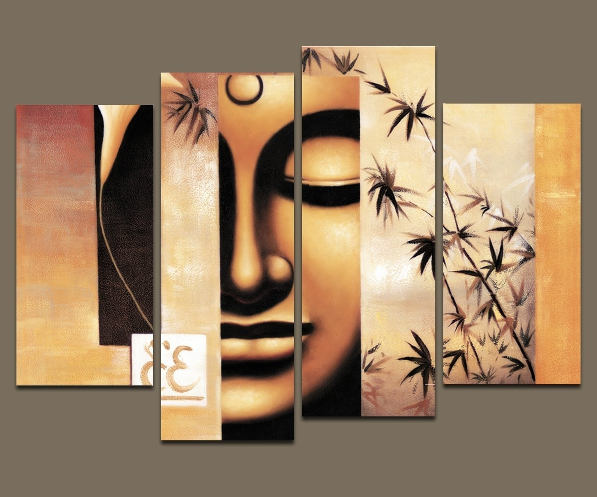 Current Amazon: Wieco Art – Large Modern 4 Piece Stretched And Framed Within Religious Canvas Wall Art (View 2 of 15)