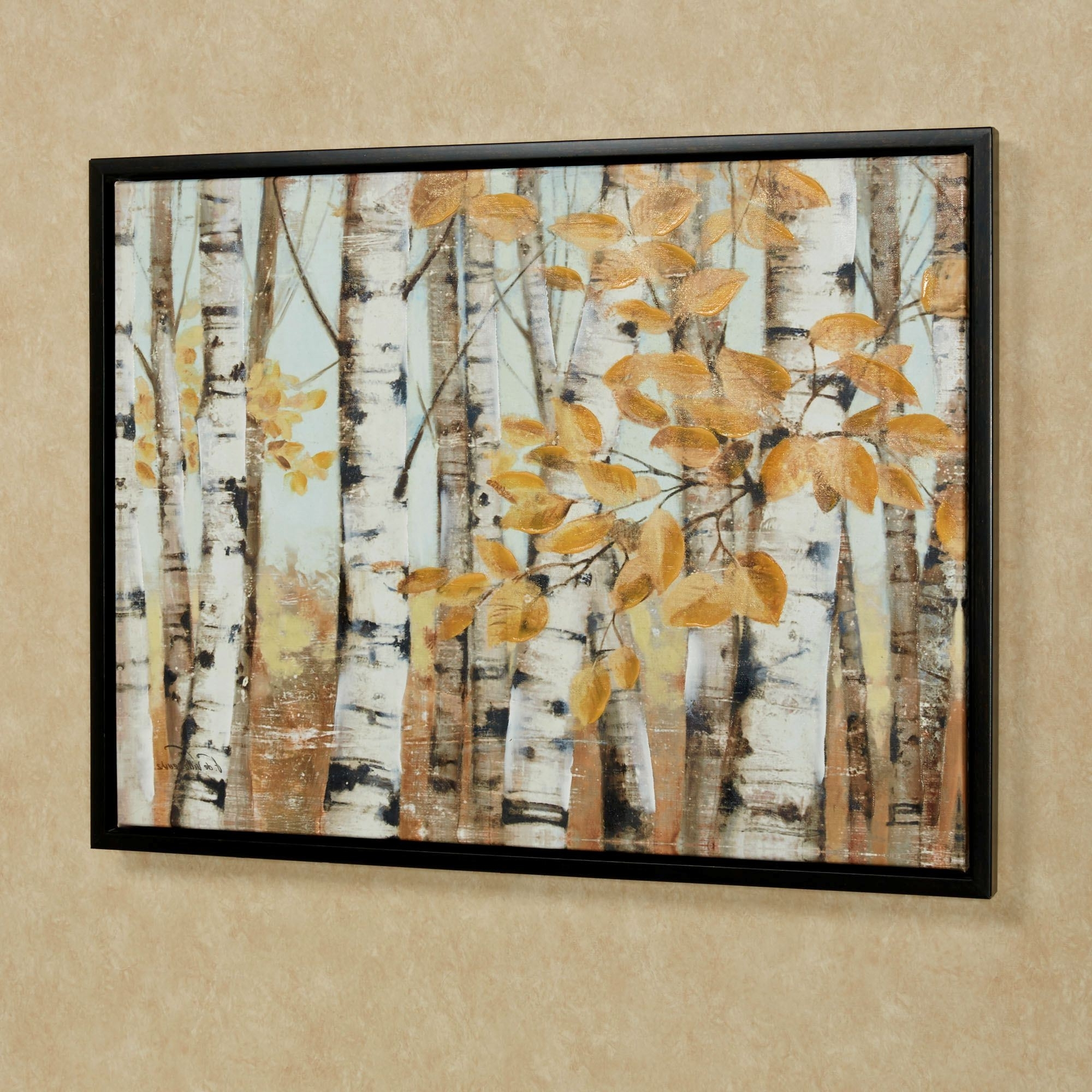 Current Birch Trees Framed Canvas Wall Art Multi Cool Framed Wall With Birch Trees Canvas Wall Art (View 13 of 15)