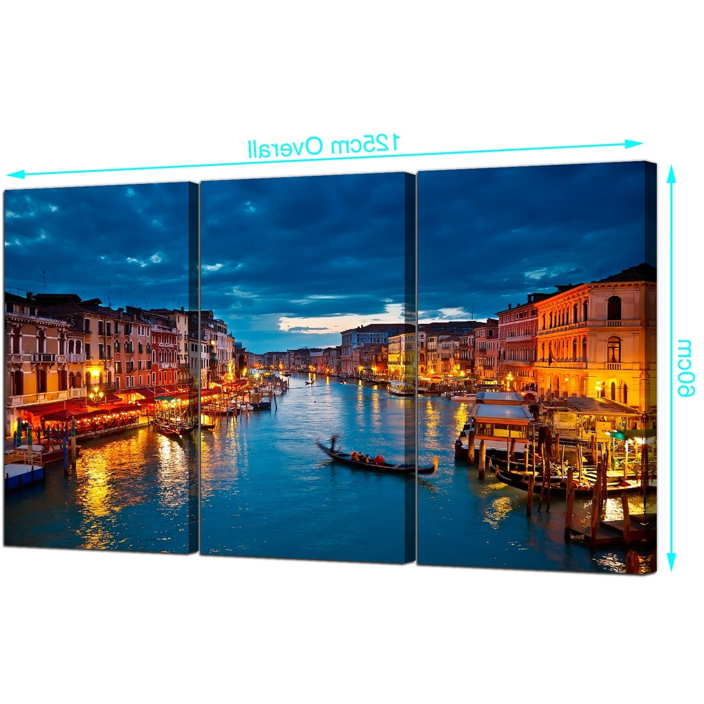 Current Cheap Venice Italy Canvas Prints Uk 3 Part For Your Living Room In Italy Canvas Wall Art (View 3 of 15)