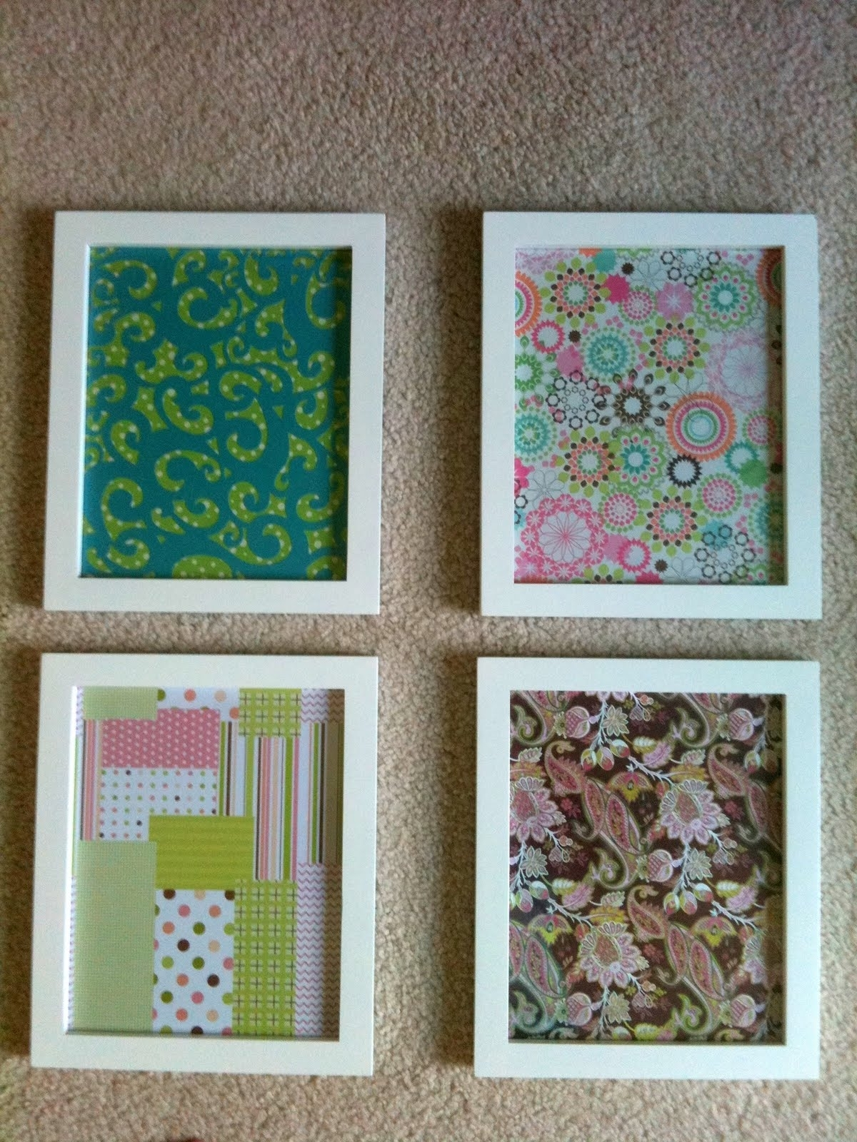 Current Creative Fabric Wall Art With Decorations. Diy Wall Decor Scrapbook Paper: Diy Artwork Wall (Gallery 3 of 15)