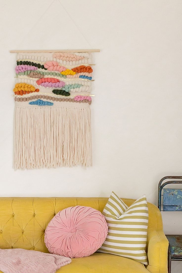 Current Decor : Wall Hanging Ideas Bright Ideas For Hanging Wall Sconces Regarding Diy Textile Wall Art (View 3 of 15)