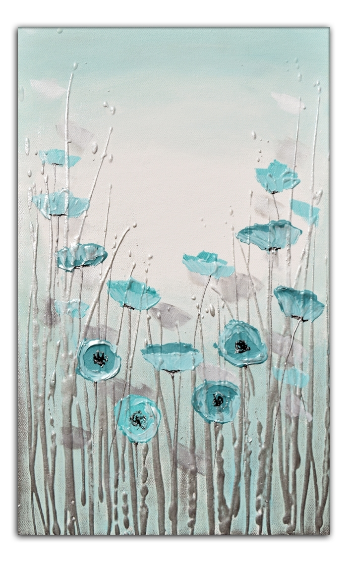 Current Duck Egg Blue Whisperamanda Dagg Throughout Duck Egg Blue Canvas Wall Art (View 4 of 15)