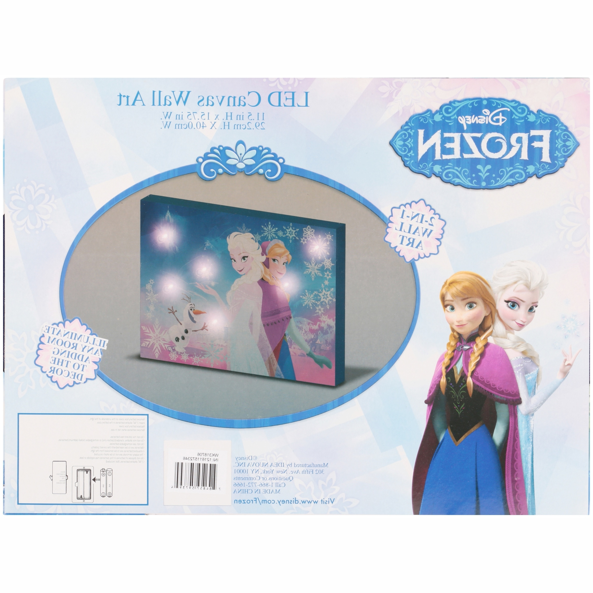 Current Elsa Canvas Wall Art Pertaining To Disney Frozen Led Canvas Wall Art – Walmart (Gallery 11 of 15)