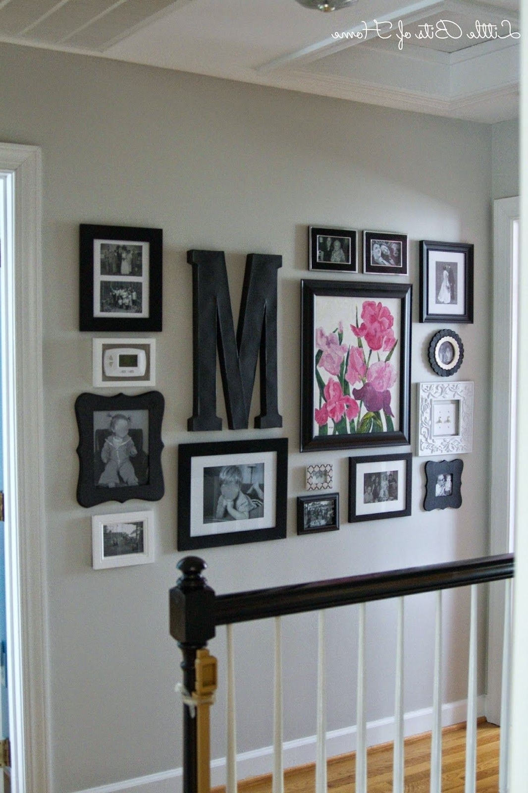 Current Entryway Wall Accents Within Little Bits Of Home: Hallway Gallery Wall (View 15 of 15)