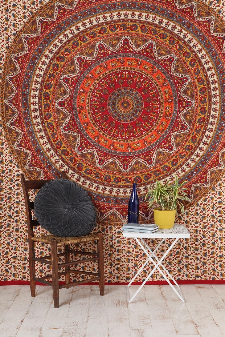 "Current Fabric Wall Art Urban Outfitters For Urban Outfitters: Kerala Tapestry / ""woven Cotton Tapestry That?s (View 3 of 15)"