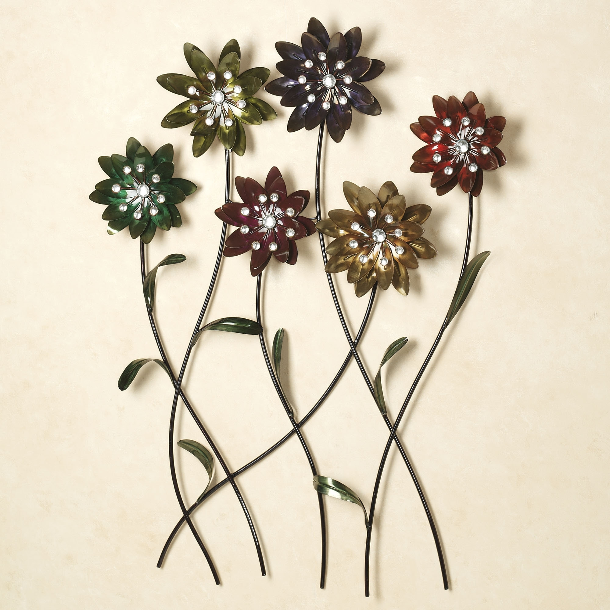 Current Flowers Wall Accents Regarding Wall Art Design Ideas: Prodigious Metal Floral Wall Art Wallpaper (View 3 of 15)