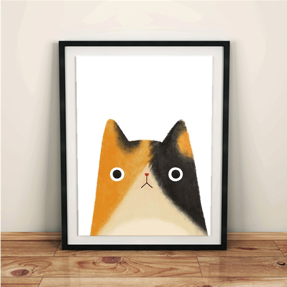 Current Framed Animal Art Prints Regarding Watercolor Japanese Pet Cat Animal Art Print Poster Kawaii Wall (View 4 of 15)