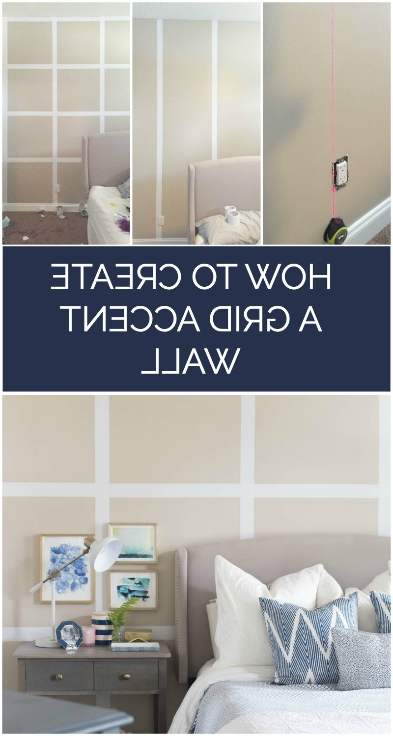 Current How To Create A Grid Accent Wall Without Paint Throughout Wall Accents Without Paint (View 10 of 15)
