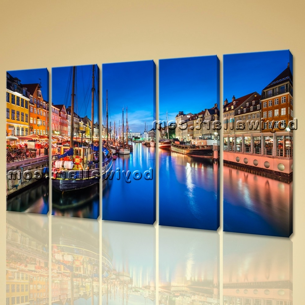 Current Italy Canvas Wall Art Regarding Canvas Wall Art Print Painting Italy Venice Night Hd Picture Home (View 4 of 15)