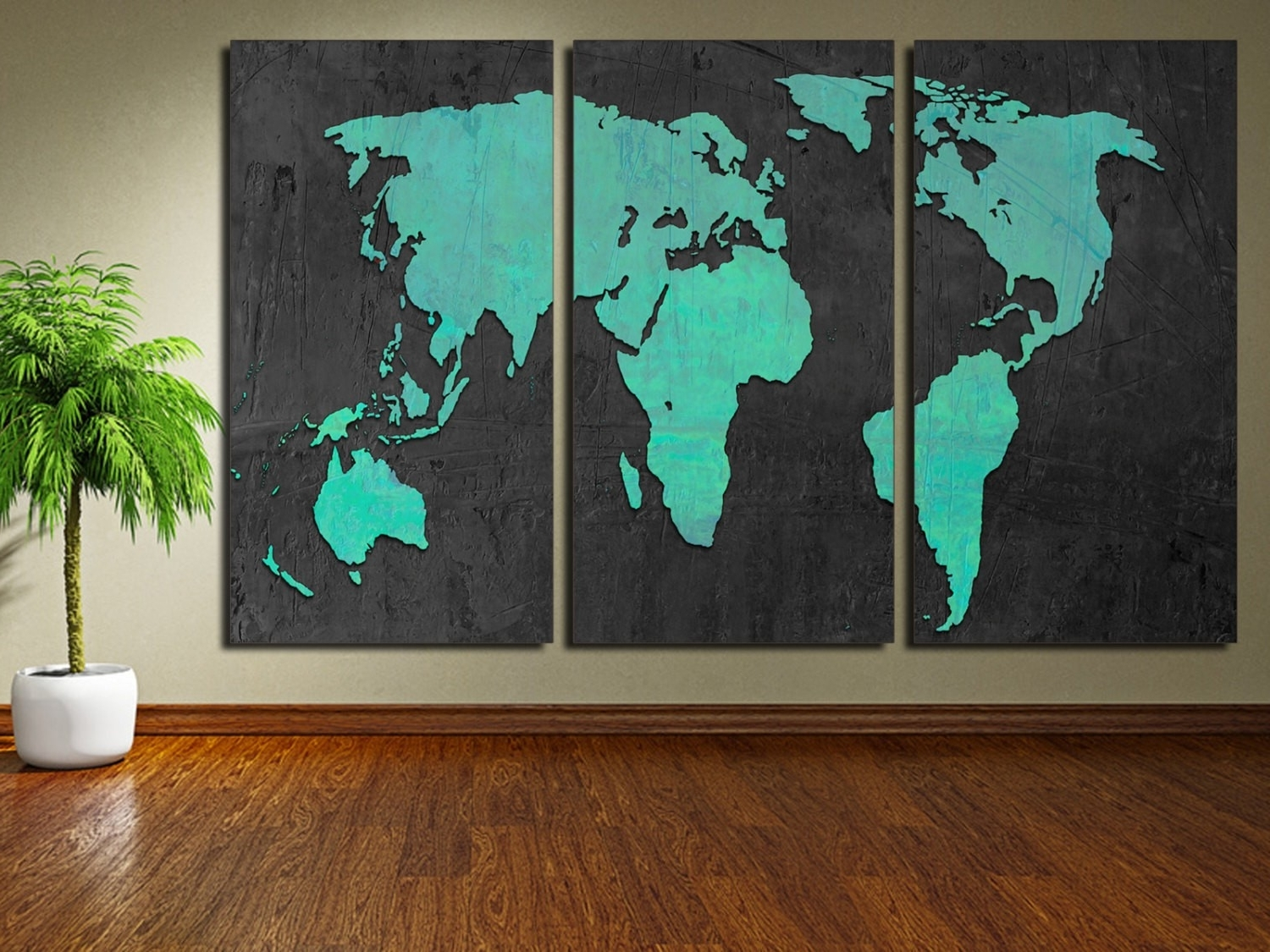 Current Malaysia Canvas Wall Art With World Map Wall Decor Malaysia Copy Turquoise World Map Canvas (View 3 of 15)