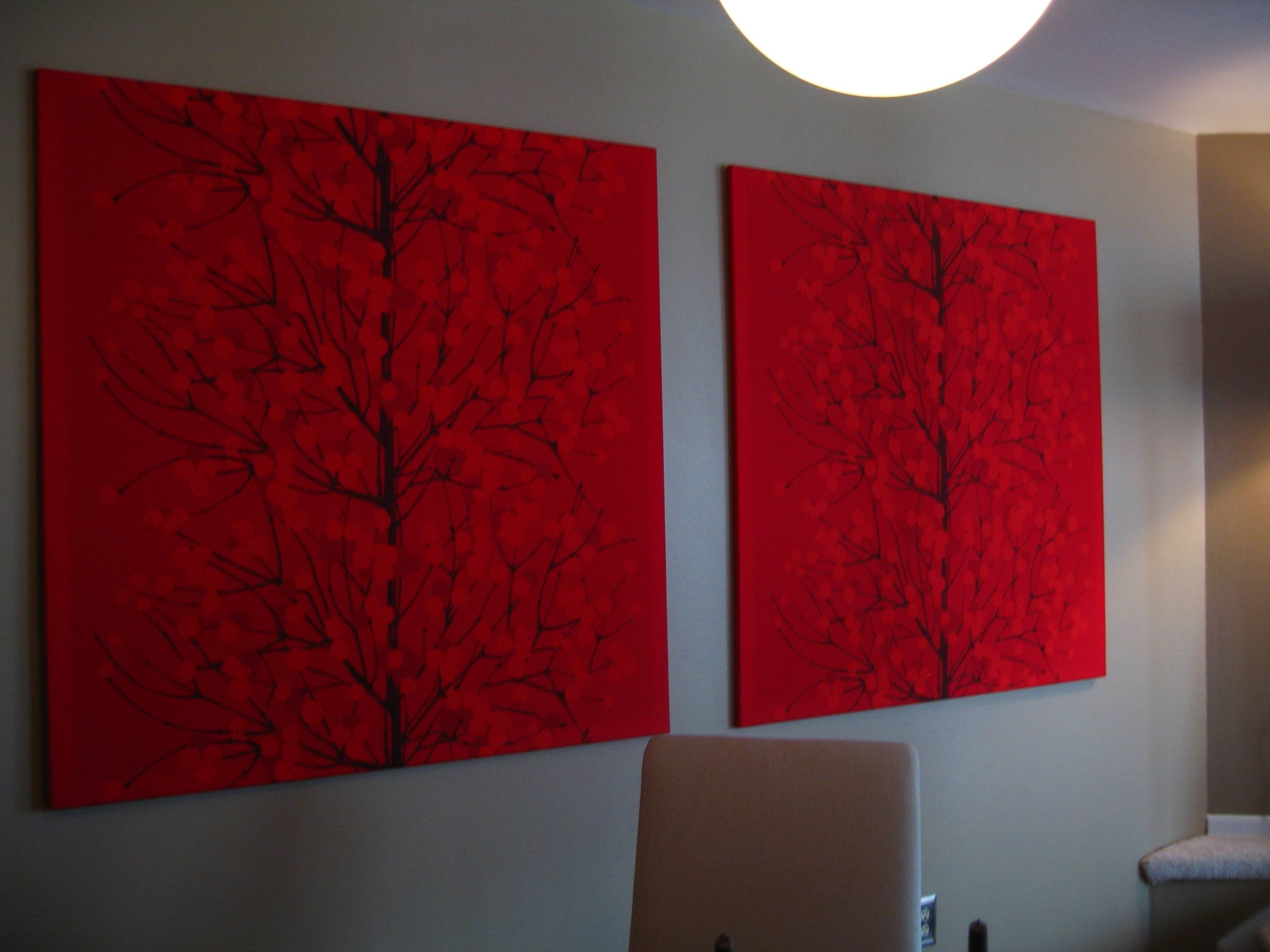 Featured Photo of Red Fabric Wall Art