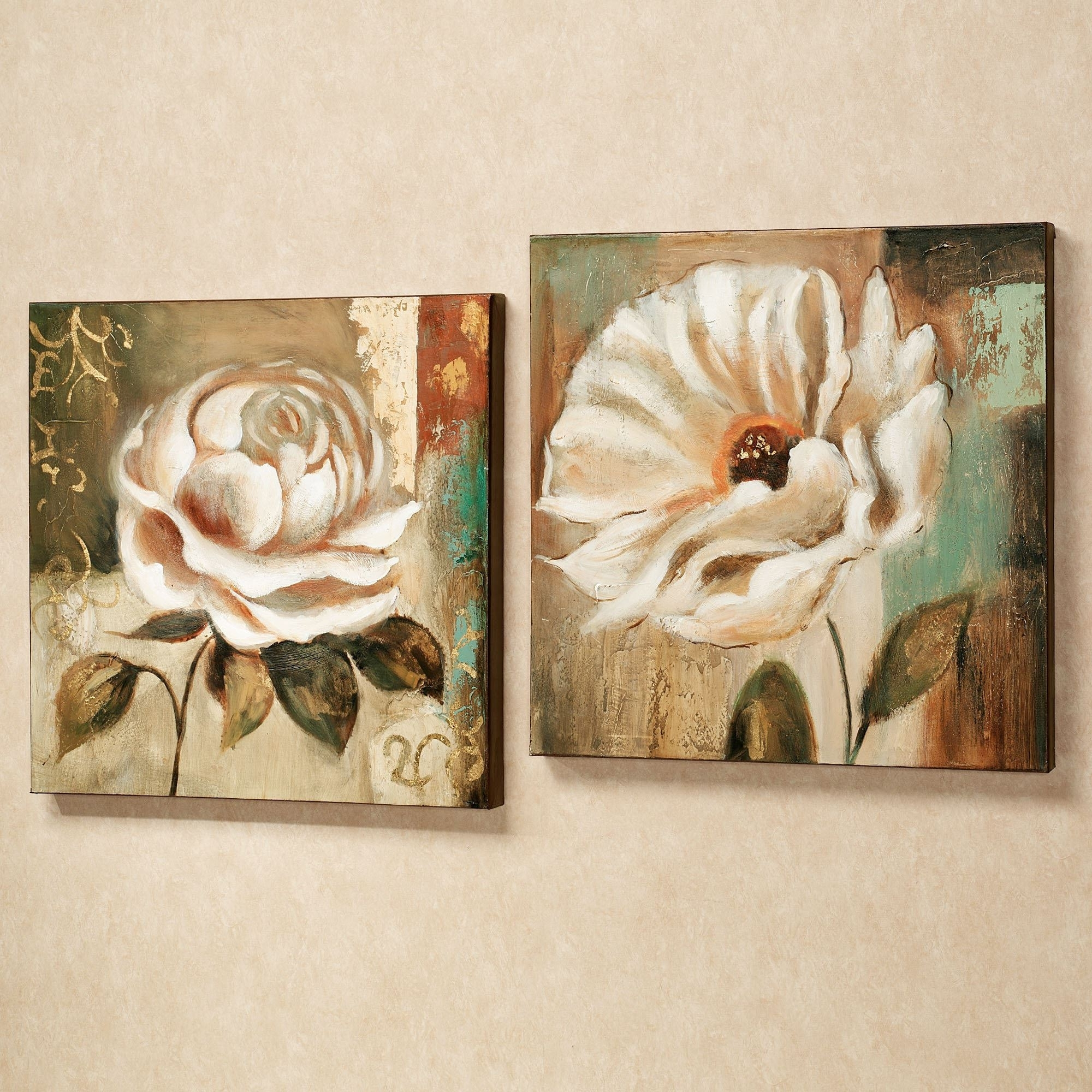 Current Rectangular Canvas Wall Art Inside Wall Art Design: Floral Canvas Wall Art Garden Delicacies Canvas (Gallery 12 of 15)