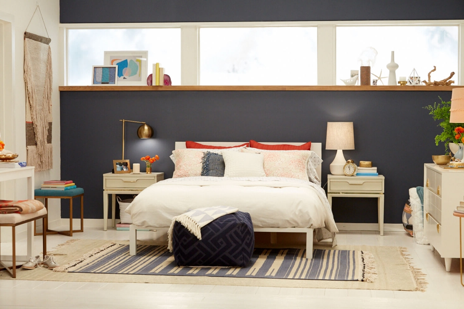 Current Target Chapter 7; Navy Blue Accent Wall Bedroom Makeover – Emily Within Wall Accents For Small Bedroom (Gallery 3 of 15)