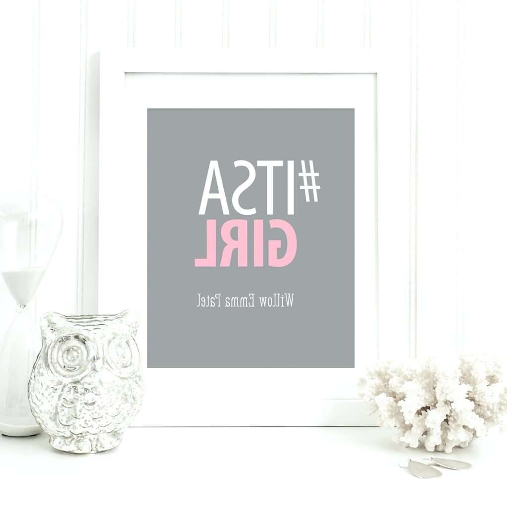 Current Wall Arts ~ Hashtag Art Baby Wall Art Nursery Art Personalized Regarding Personalized Fabric Wall Art (View 4 of 15)