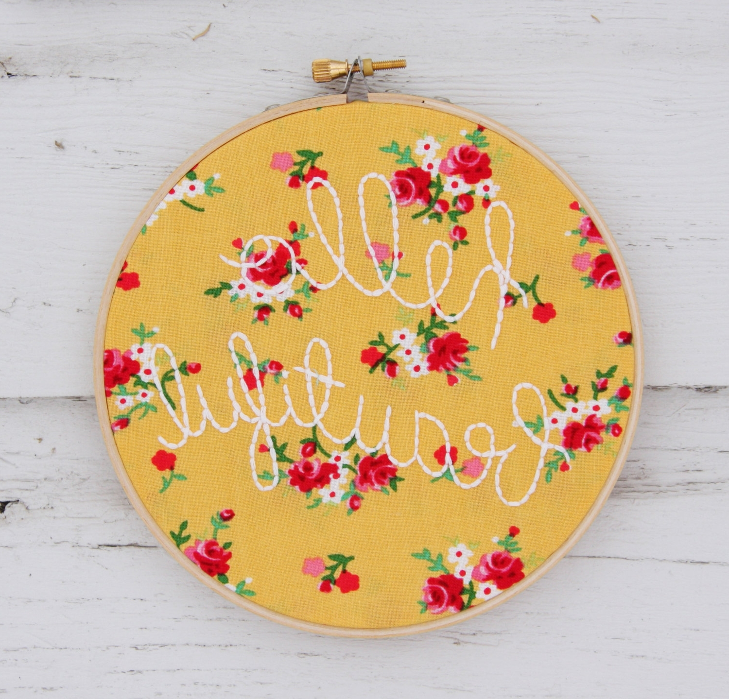 Current What's All The Hoopla About? – Project Nursery In Fabric Hoop Wall Art (View 4 of 15)