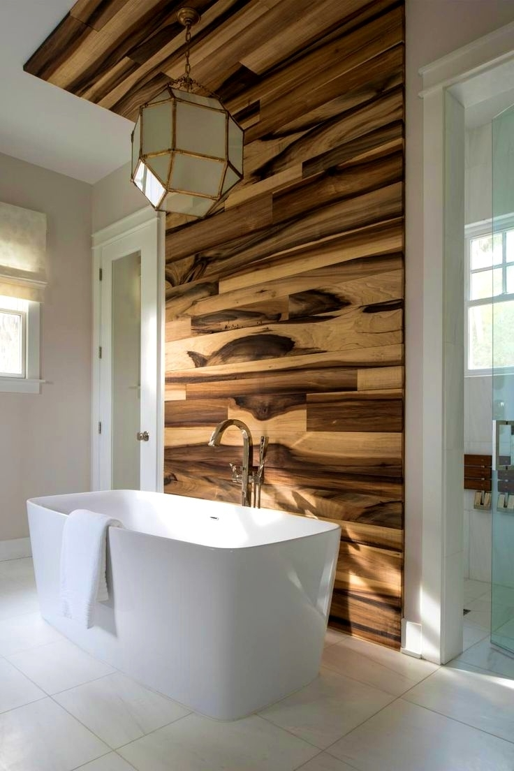 Current Wood Wall Accents Intended For Bathroom : Enchanting Ideas About Wood Accent Walls Accents Faux (View 6 of 15)