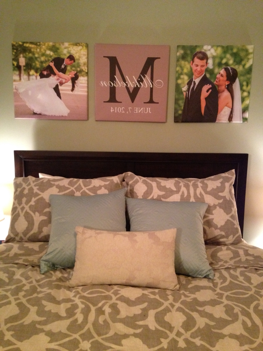 Custom Canvas Prints Of Wedding Pictures In Master Bedroom #canvas Intended For Latest Masters Canvas Wall Art (Gallery 11 of 15)