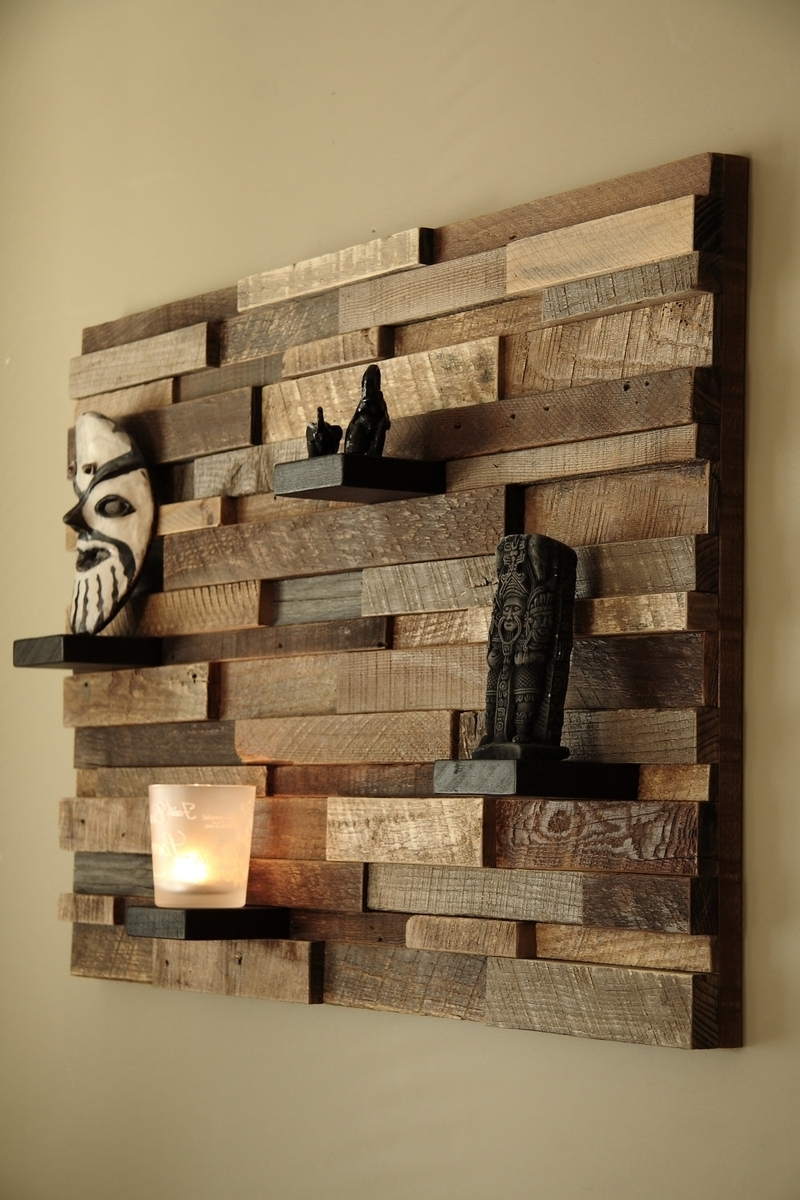 Custom Made Reclaimed Wood Wall Art Made Of Old Barn Wood – So With 2018 Wall Accents Made From Pallets (View 4 of 15)