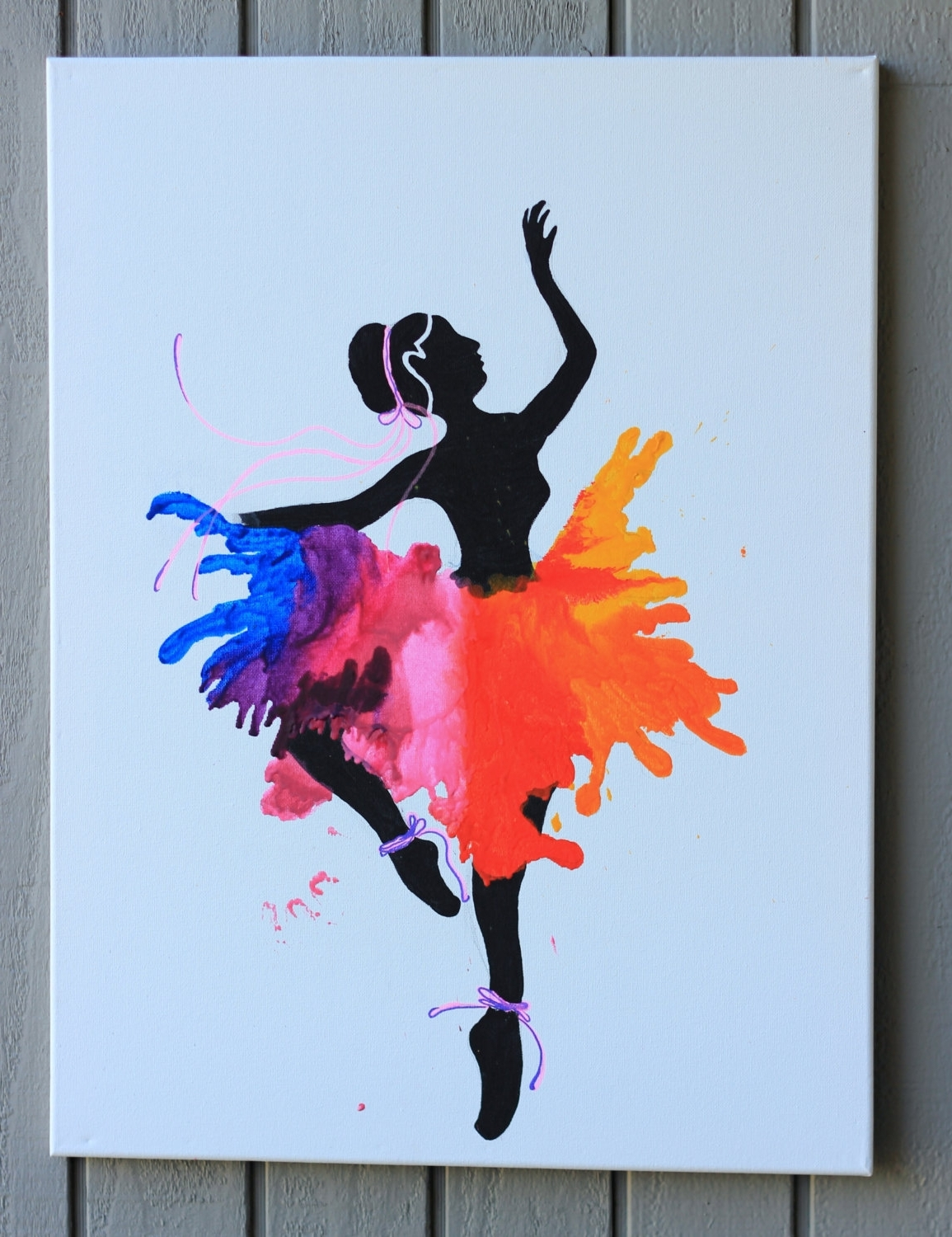 Dance Canvas Wall Art With Well Liked Ballerina Wall Art Ballet Dancer Large Canvas Inspirational Wall (View 6 of 15)