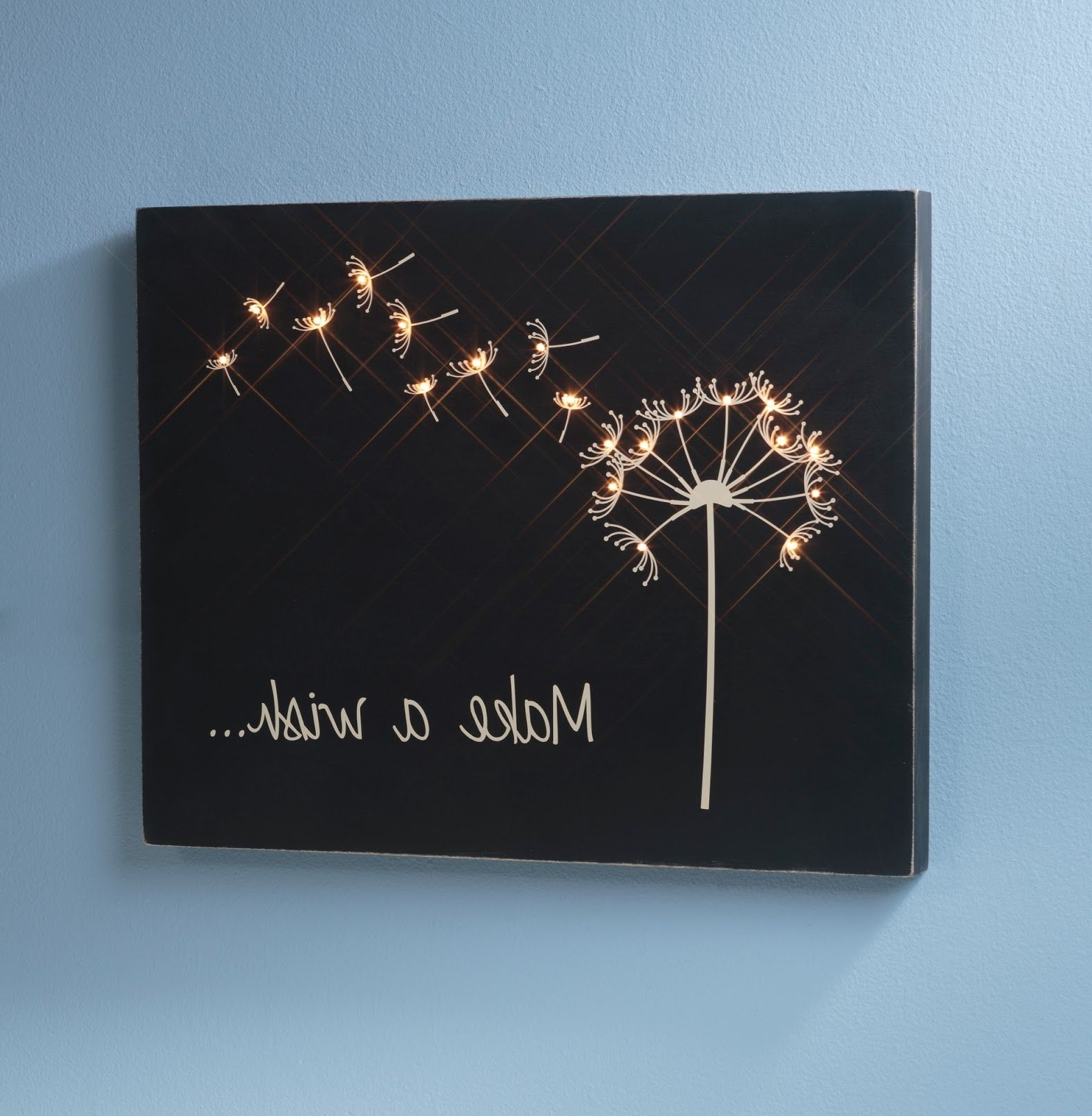 Dandelion Canvas Wall Art Throughout Trendy Design, Create, Inspire!: Make A Wish Wooden Canvas (View 5 of 15)