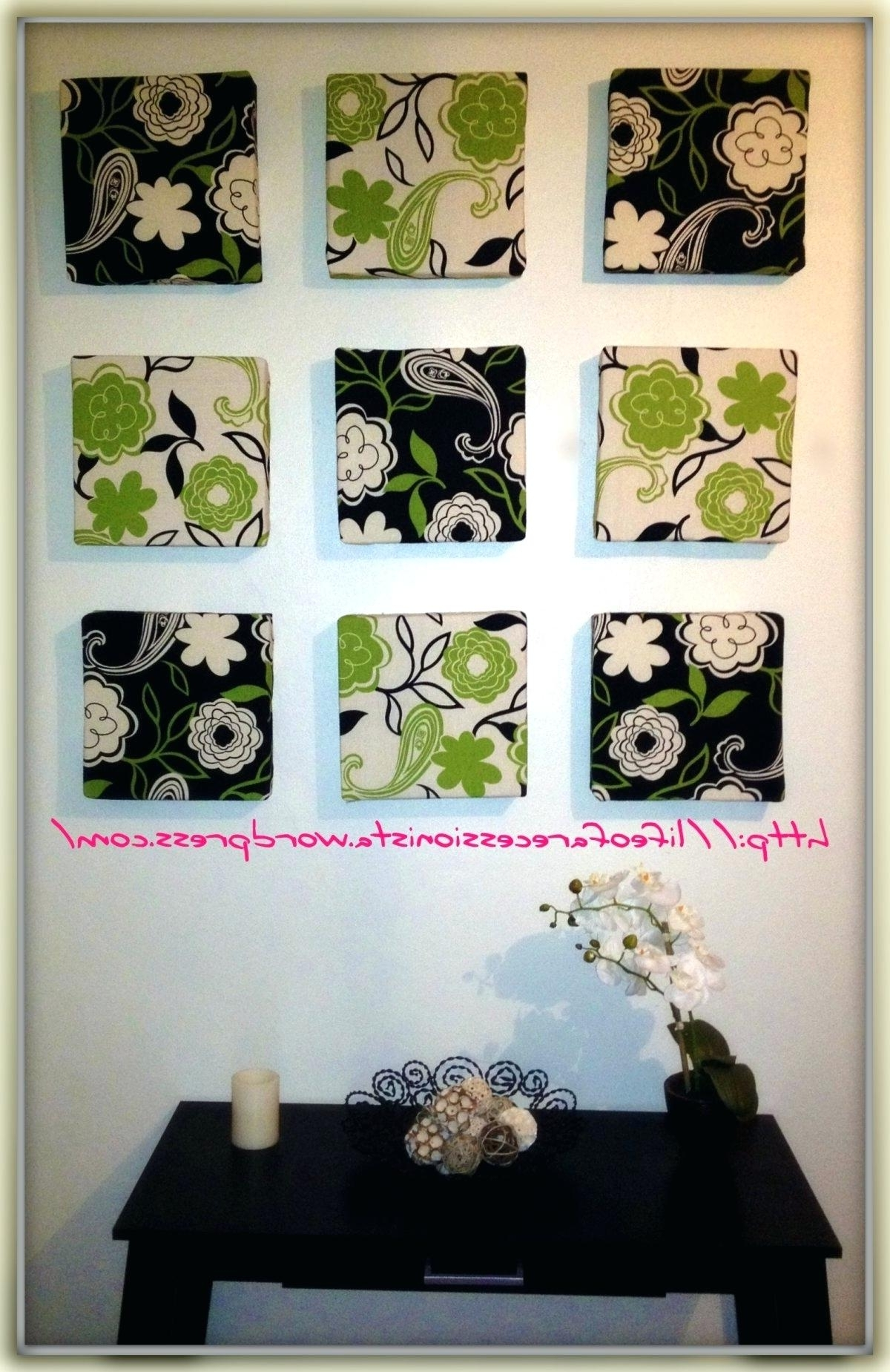 Decoration: Framed Fabric Wall Art Frame How Has Grown Over The With Preferred Fabric Square Wall Art (Gallery 2 of 15)