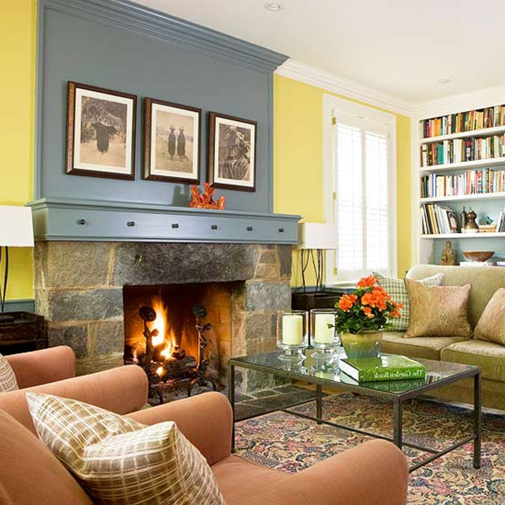 Painted Accent Wall Behind Corner Fireplace: 15 Best Wall Accents Over Fireplace