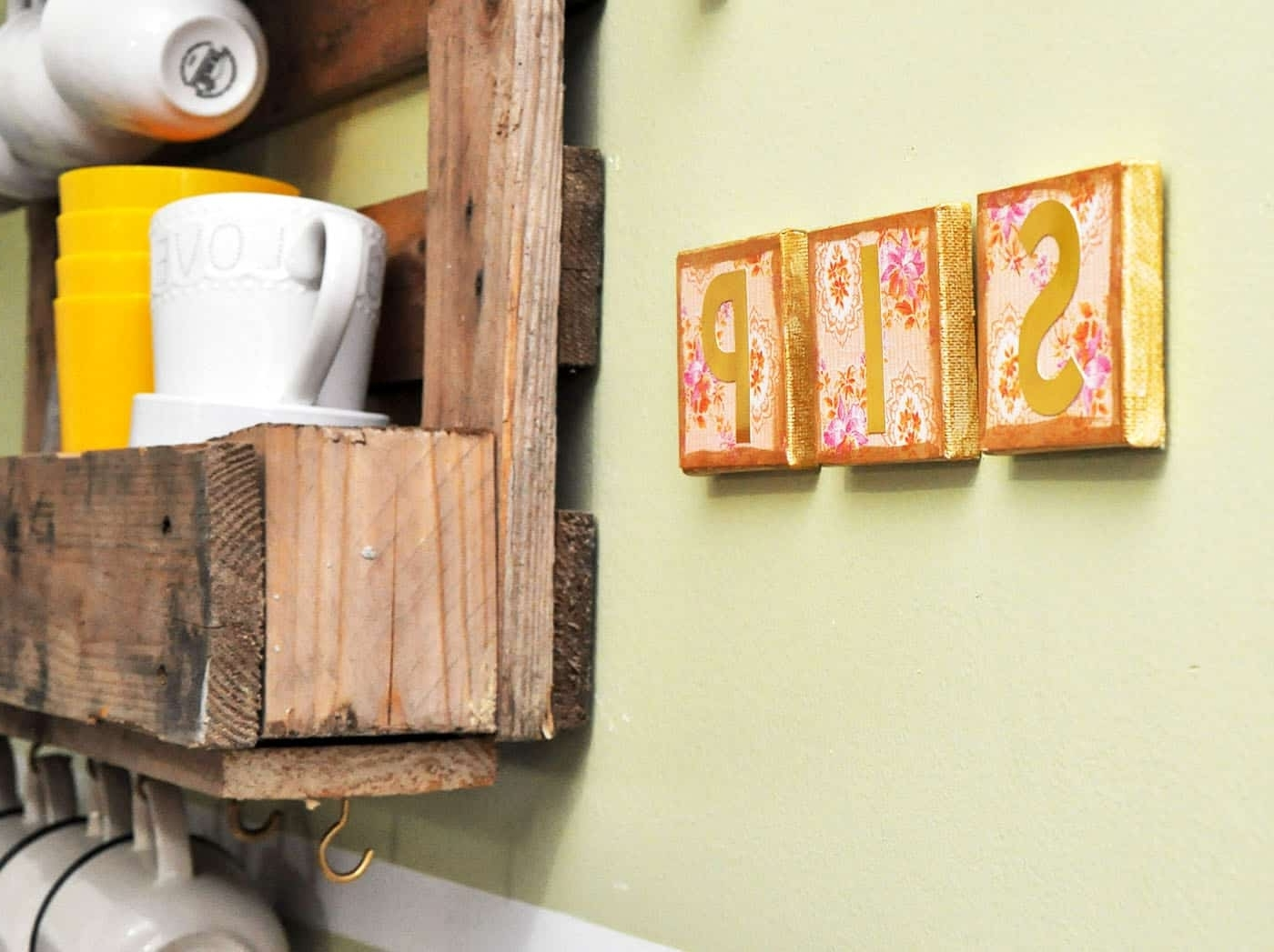 "Decoupage ""sip"" Diy Canvas Art – Mod Podge Rocks With Favorite Mod Podge Fabric Wall Art (View 3 of 15)"