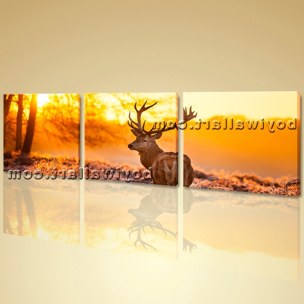 Showing Photos of Deer Canvas Wall Art (View 10 of 15 Photos)