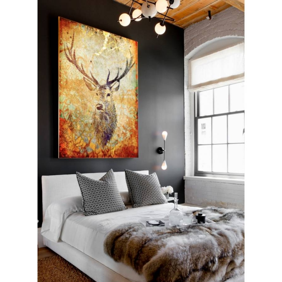 Deer Canvas Wall Art Within Popular Deer Hunter, Canvas Artpalm Valley (Gallery 5 of 15)