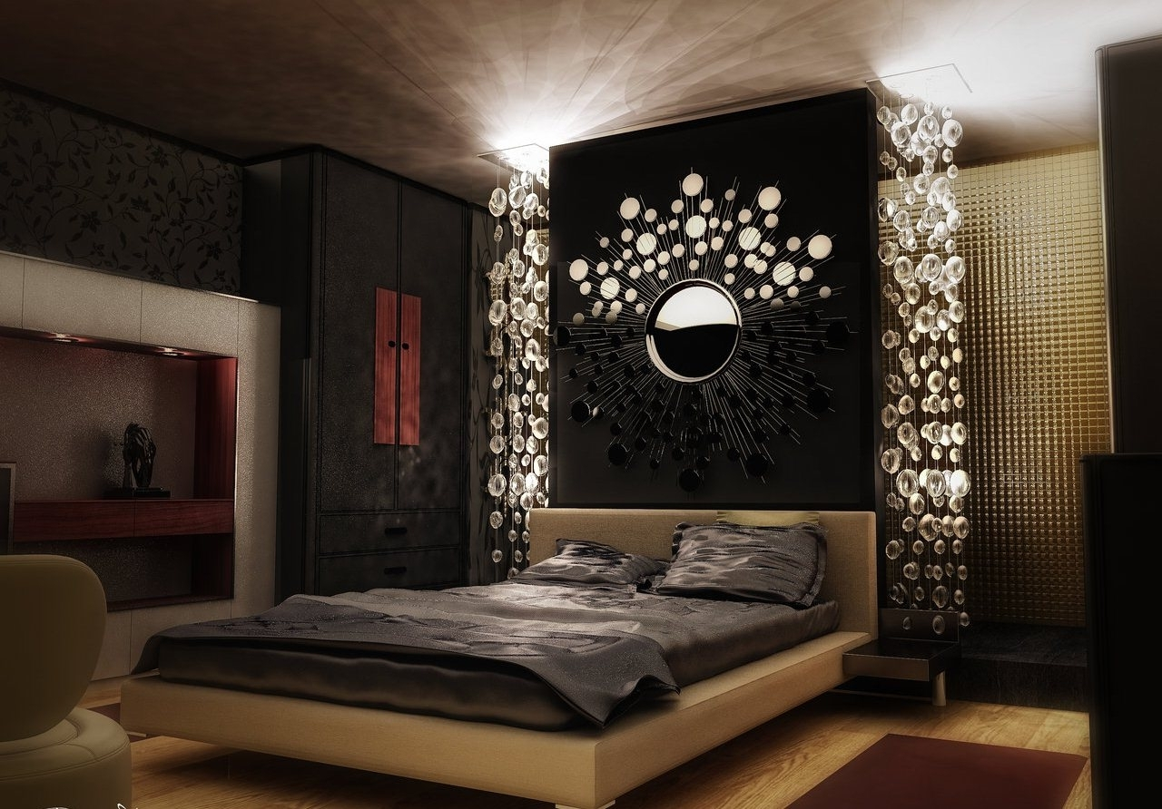 Delightful Interior Asian Bedroom Decor With Stylish Wall Decor Regarding Preferred Asian Wall Accents (View 10 of 15)