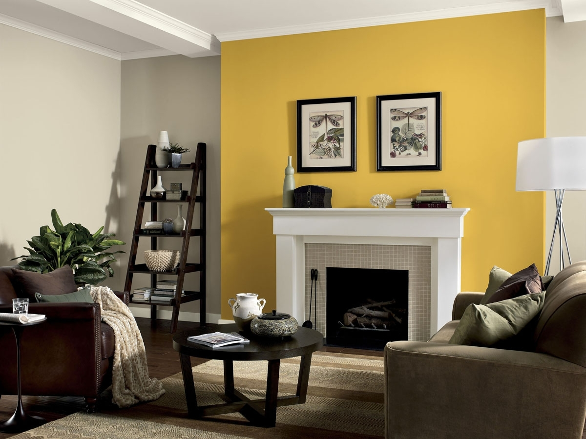 Dining Table Centerpiece Ideas Dining Room Wall Decor Ideas Accent Regarding Preferred Yellow Wall Accents (View 2 of 15)