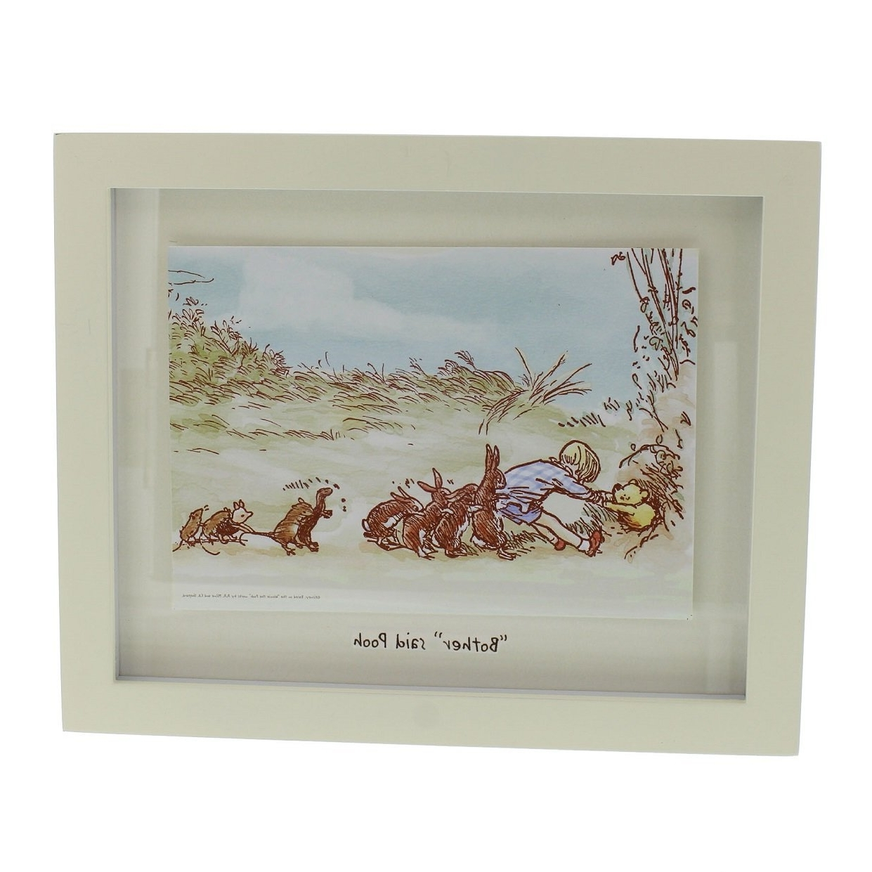 Disney Classic Winnie The Pooh Heritage Wall Art Decor Framed With Famous Framed Classic Art Prints (View 4 of 15)