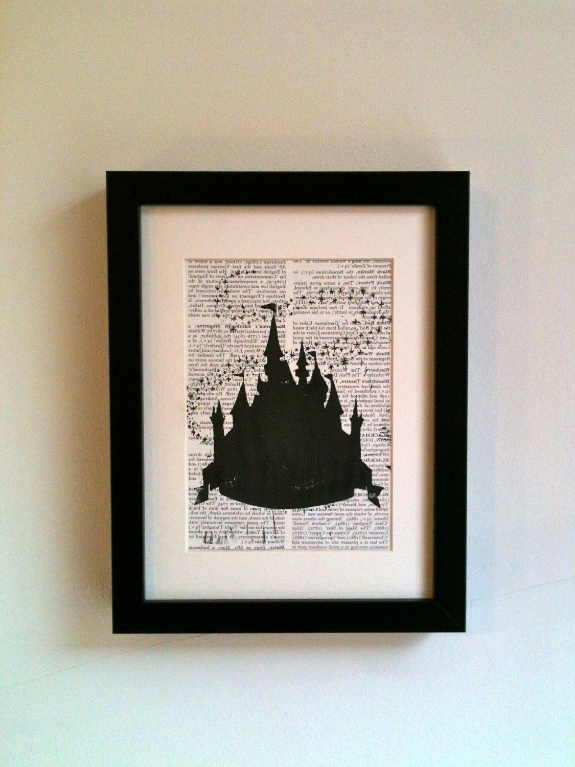 Disney Framed Art Prints Pertaining To Most Popular Disney Cinderella Fairy Castle, Inspired. This Linocut Print Would (Gallery 5 of 15)
