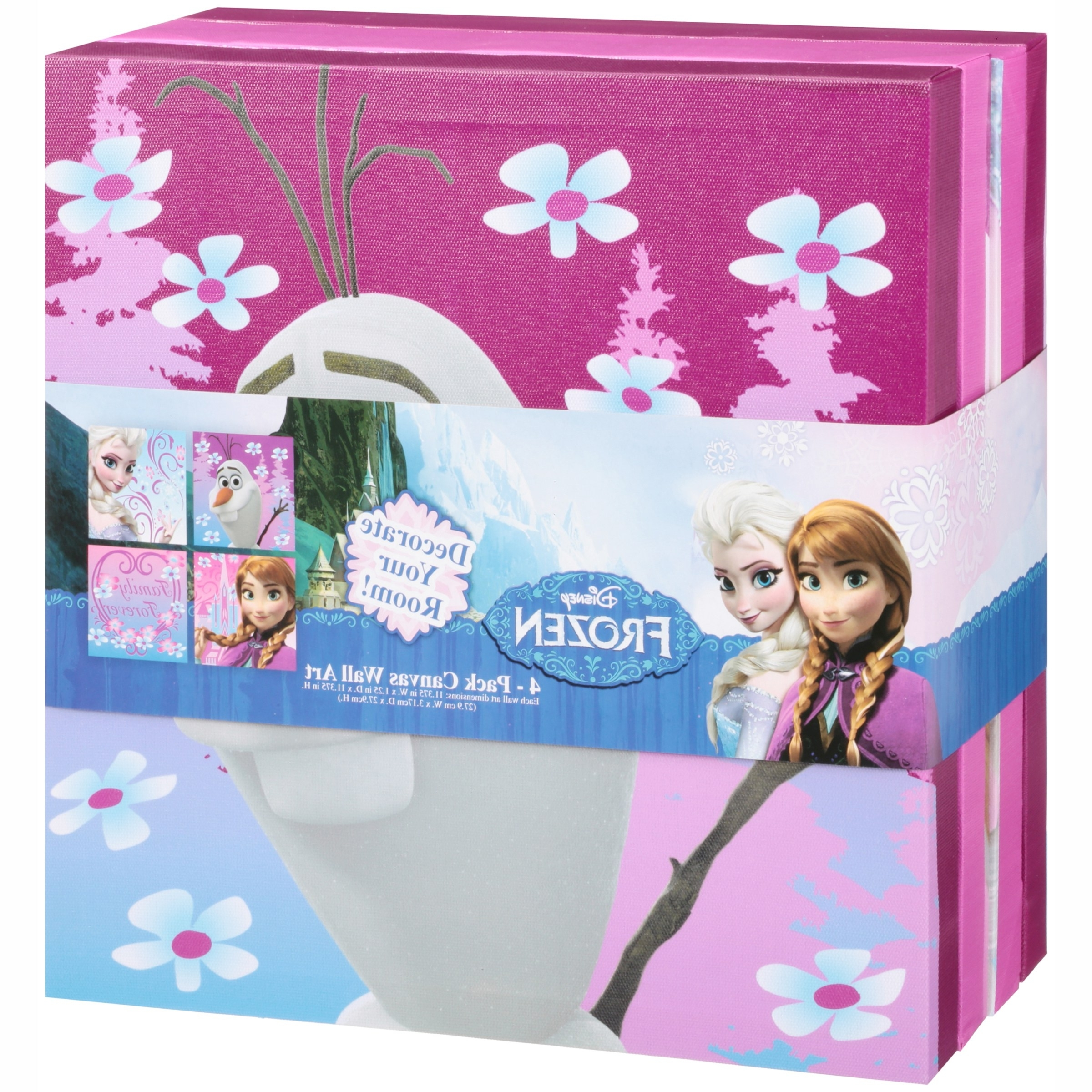 Disney Frozen Toy Organizer And Wall Art Value Bundle – Walmart Within Well Liked Elsa Canvas Wall Art (View 4 of 15)