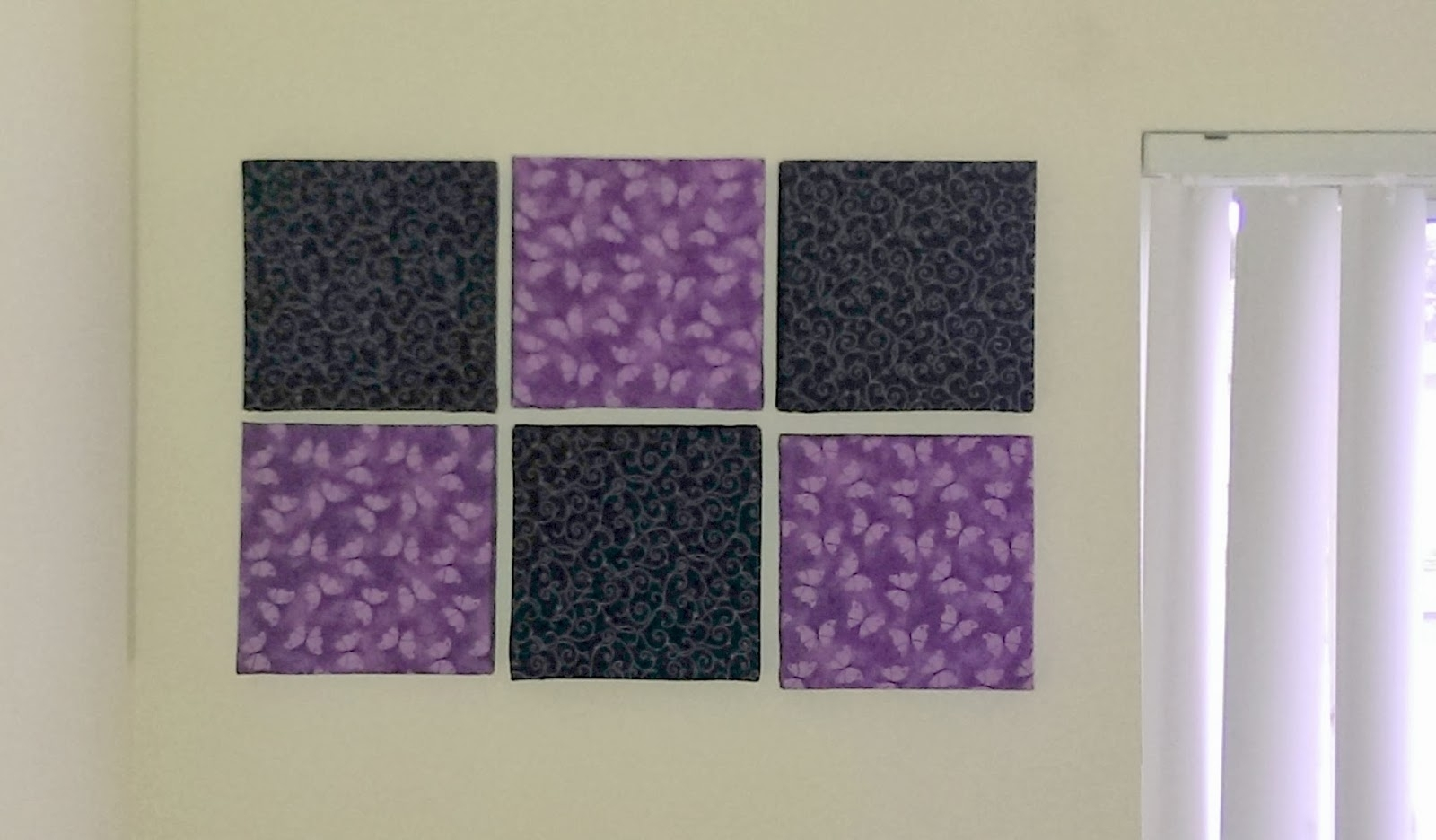 Diy Addiction: Wall Art – Fabric Covered Canvas With Most Popular Purple Fabric Wall Art (View 2 of 15)