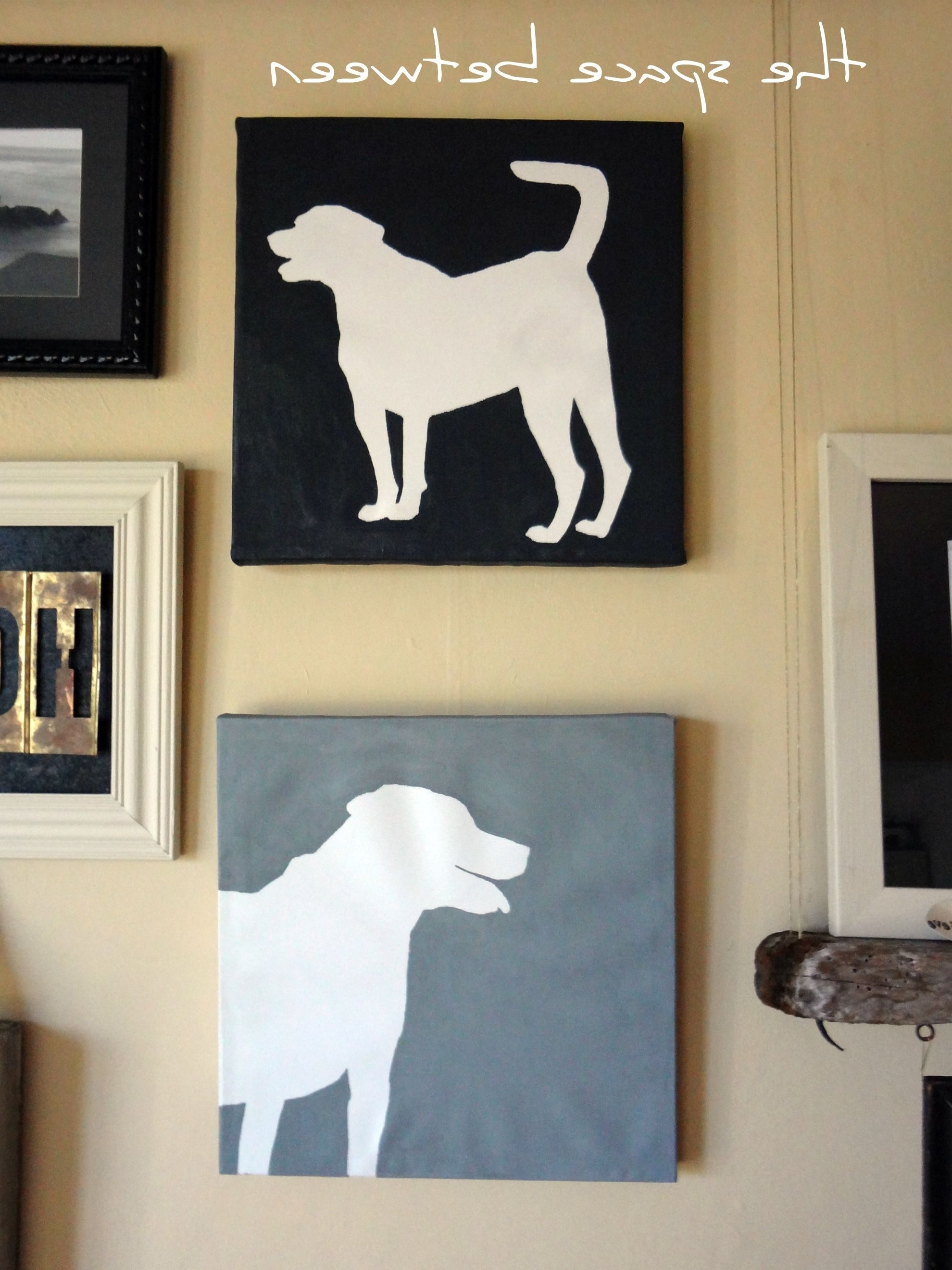 Diy Canvas Silhouettes {The Final Steps (Gallery 11 of 15)
