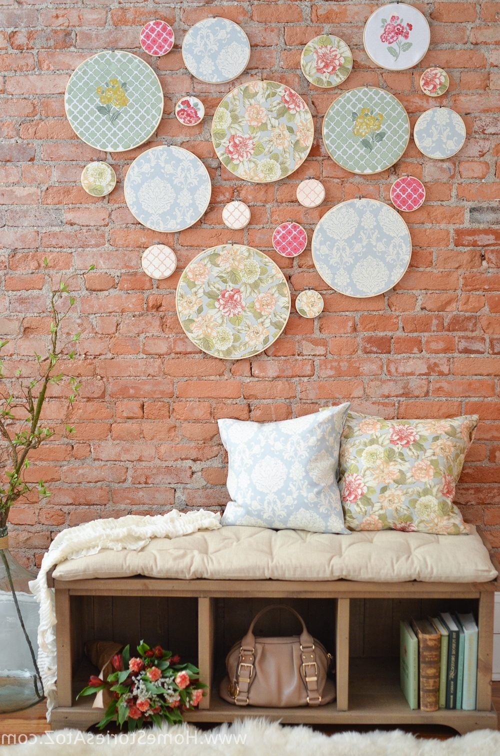 Diy Embroidery Hoop Wall Art – Home Stories A To Z Intended For Most Recent Embroidery Hoop Fabric Wall Art (View 3 of 15)