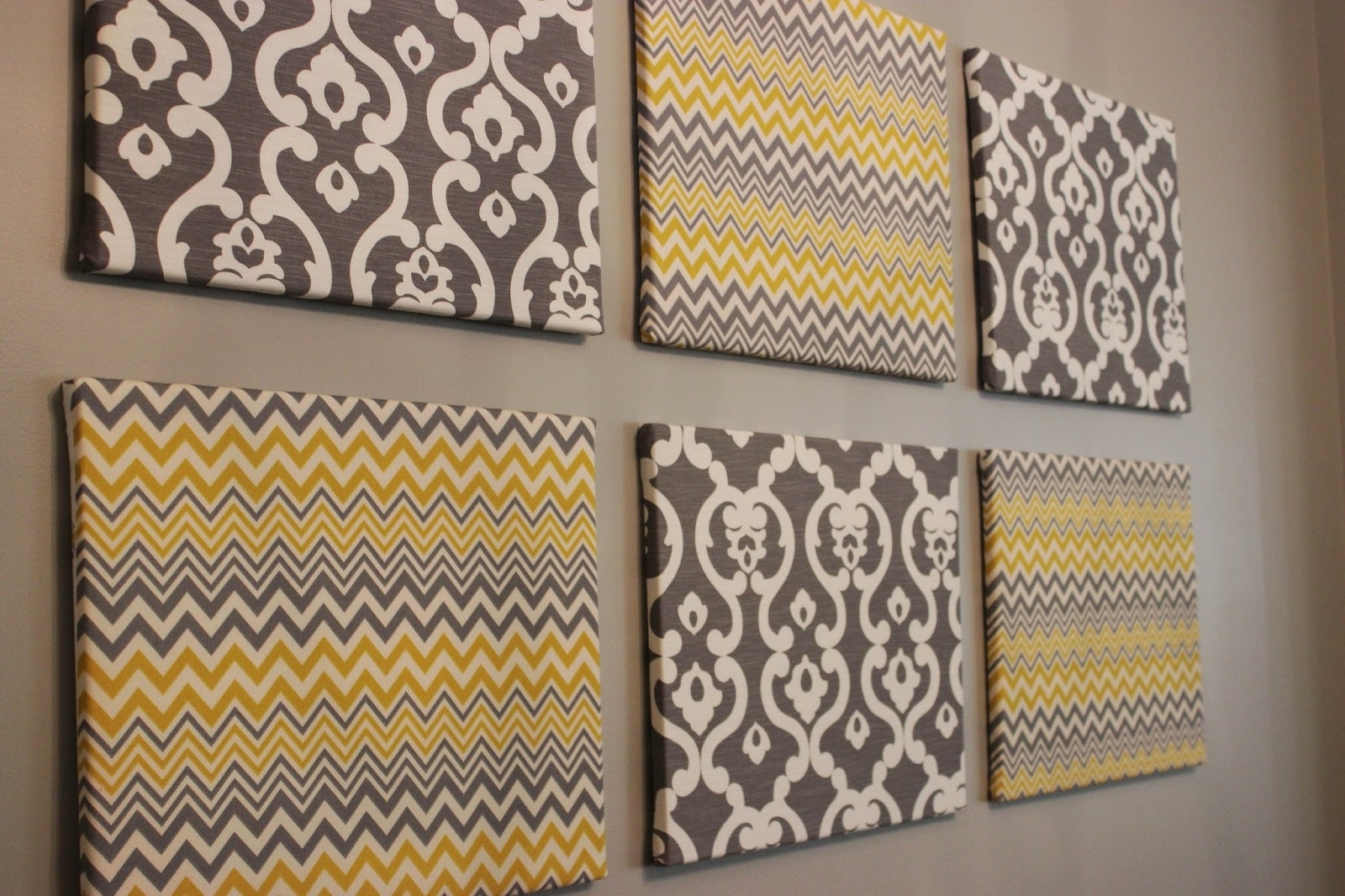 Diy Fabric Canvas Wall Art Regarding Popular Sleek Diy Wall Conquers Painted Canvas A Pop Plus Home Decorating (View 6 of 15)