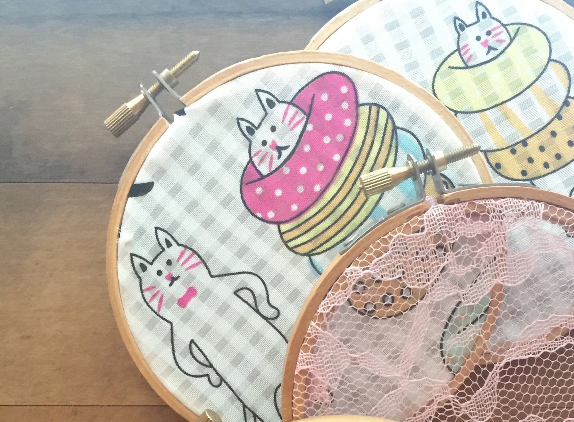 Diy – Fabric Embroidery Hoop Wall Art (Gallery 6 of 15)